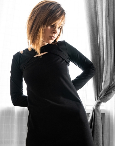 Black T-shirt dress
