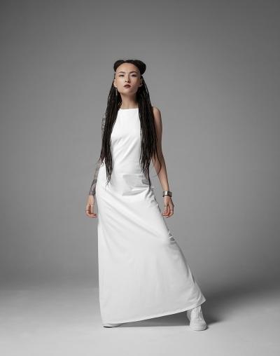 Платье-майка в пол