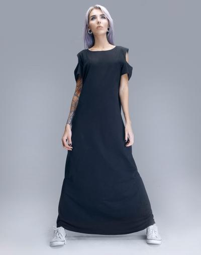 Long UMI short-sleeved dress