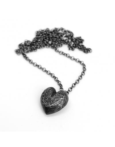 Кулон Сердце темное