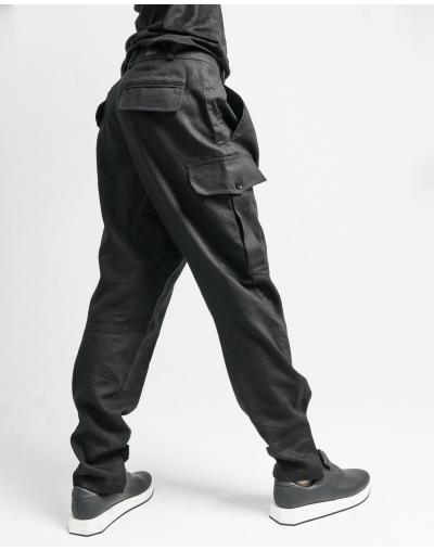 Льняные брюки R19