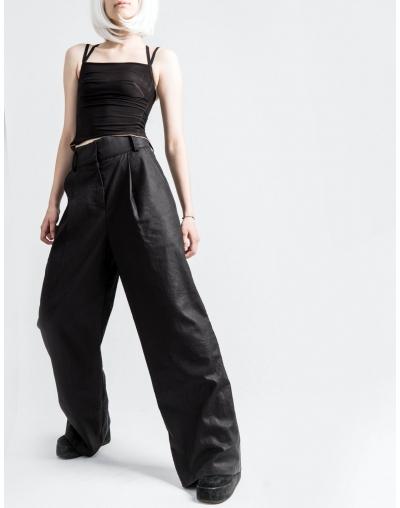Широкие льняные брюки