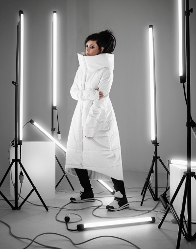 Enima white winter coat