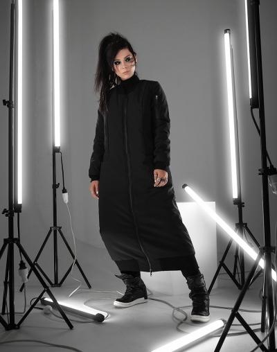 Длинная куртка-бомбер One