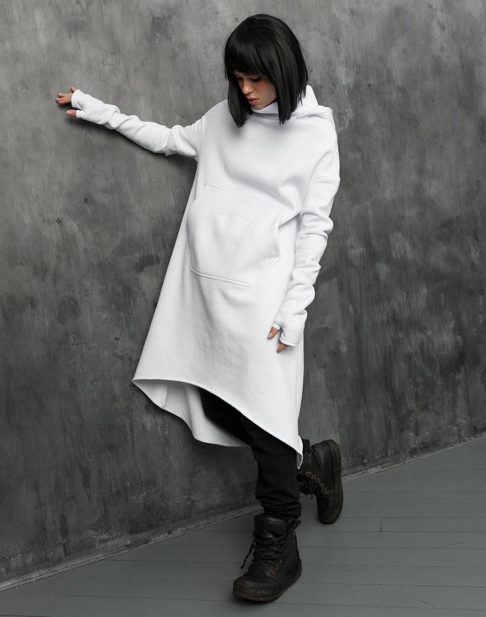 Phantom white hoodie